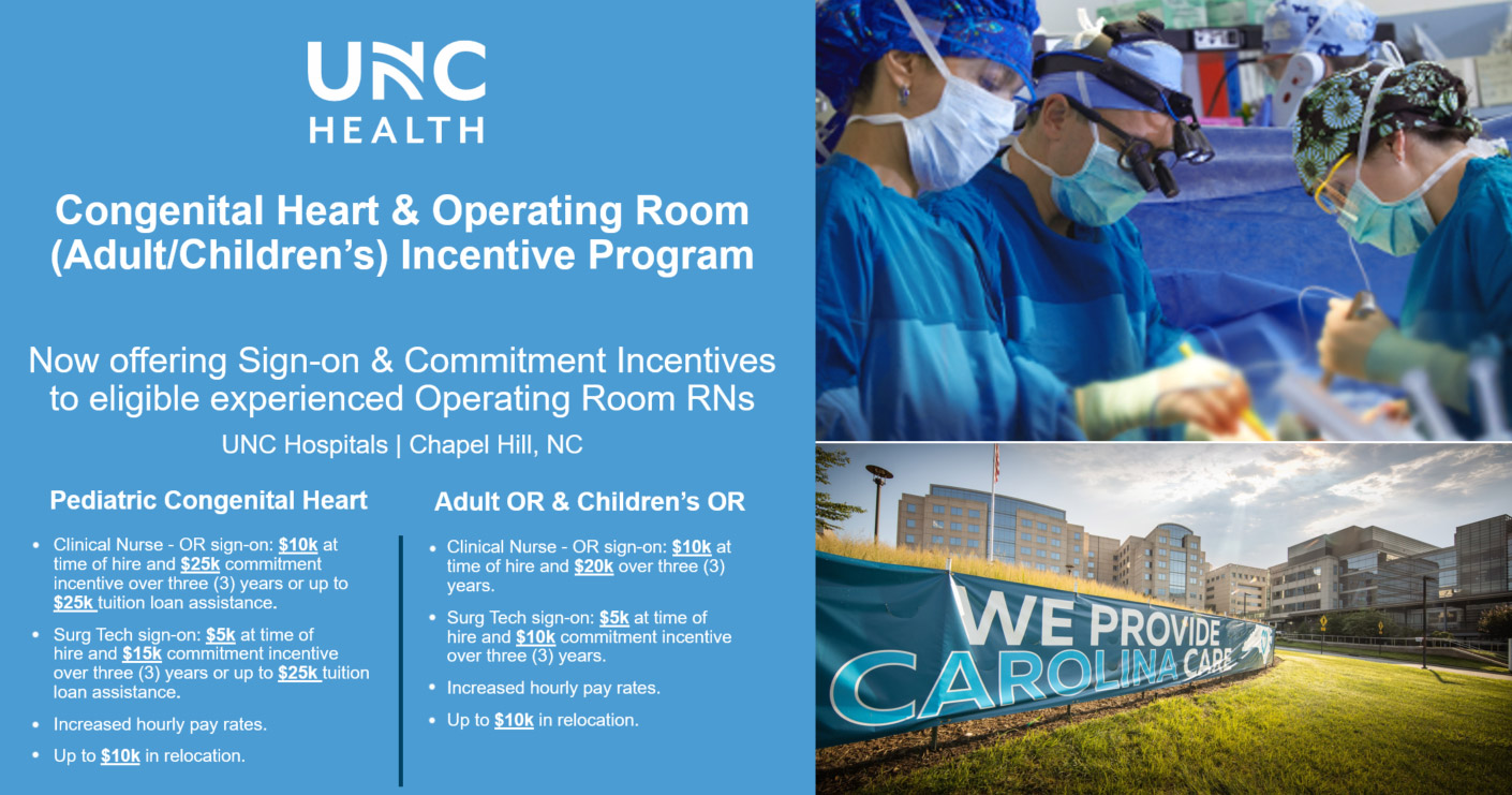 Congenital Heart Program and Operating Room Incentive program Banner